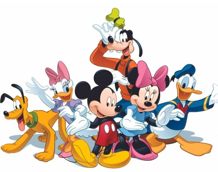 Friends Mickey Mouse Club Cartoon Customized Wall Decal