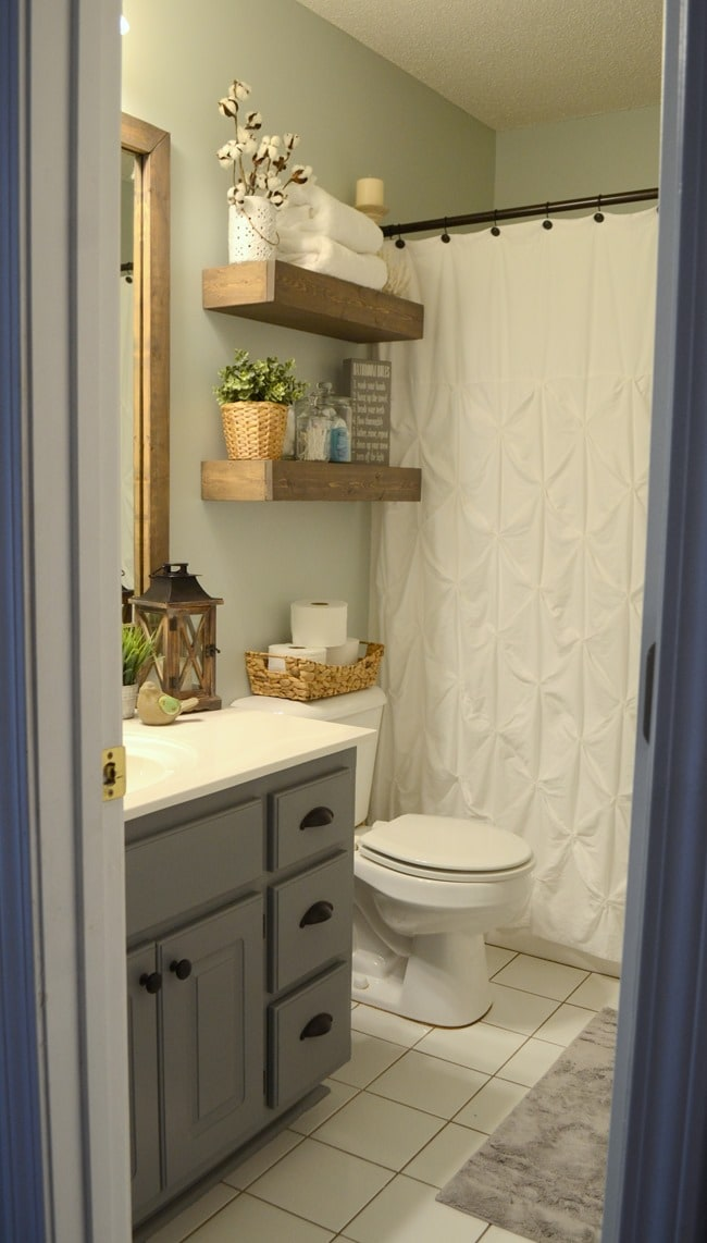 Shelving, Shelving, and Storage in the bathroom