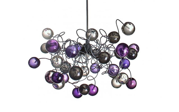 Ceiling Lamp bubbles with Purple, Gray and clear color bubbles for children room, hall, bathroom.