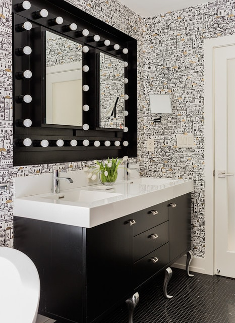 Lighted Square Mirror