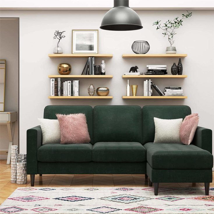 CosmoLiving Strummer Modern Reversible Sectional Couch