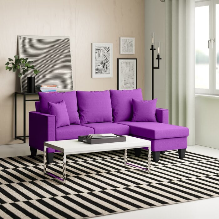 """Janna 73"""" Reversible Sofa & Chaise with Ottoman"""