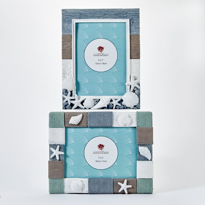 2 Piece Marchese Beach Theme Picture Frame Set