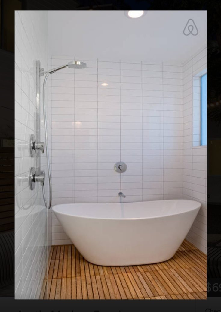 love ceiling rain-heads and this cool tub/shower combo