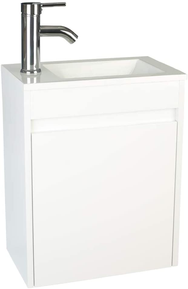 """eclife Bathroom Vanity W/Sink Combo 16"""" for Small Space"""