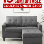 15 Cheap and Comfortable Couches Under $400 - Pin