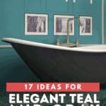 17 Ideas for Elegant Teal and Gray Bathroom - Pin