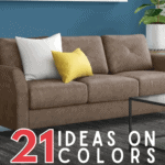21 Ideas on Colors That Go Well with a Brown Sofa - Pin