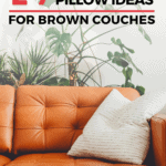 29 Cool Throw Pillow Ideas for Brown Couches - pin