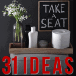 31 Ideas on How to Decorate Toilet Tank Tops - Pin
