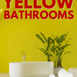 31 Stunning Ideas for Yellow Bathrooms - pin