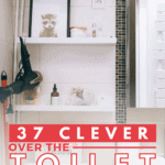 37 Clever Over the Toilet Storage Ideas - pin