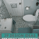 39 Design Ideas for Small and Narrow Bathrooms - Pin