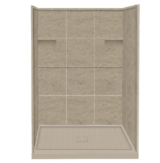 """RKWF4847-94 Alcove 48"""" W x 75"""" H Framed Rectangle Shower Stall and Base Included"""