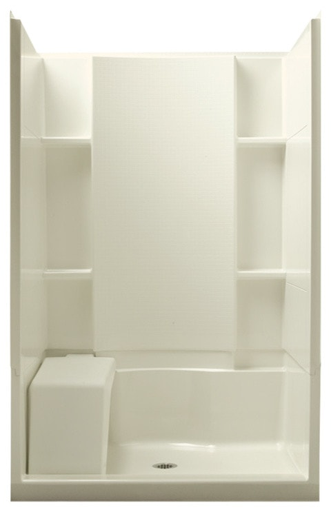 Alcove Shower Kit, Biscuit
