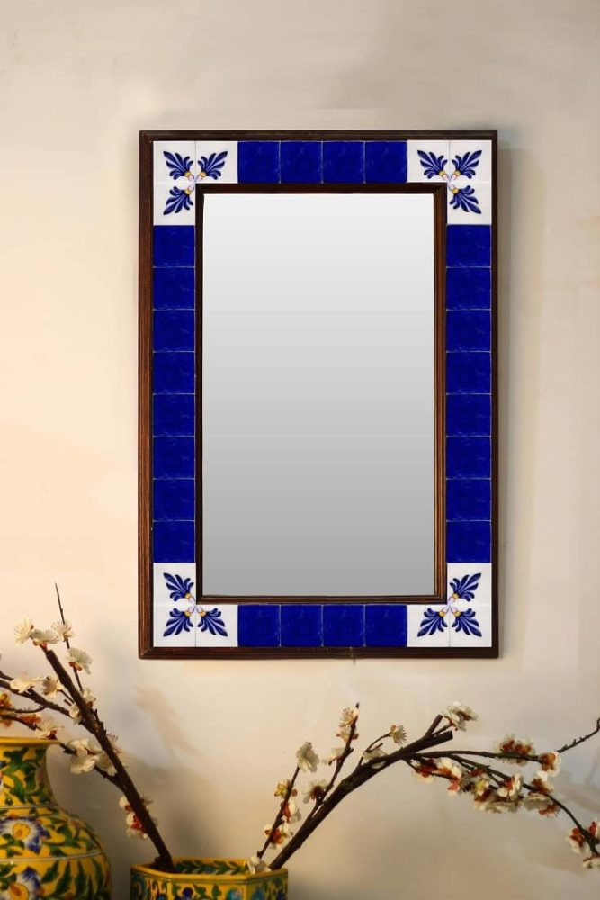 Decorative Wall Mirror with Ceramic Tile 16 X 24 inch