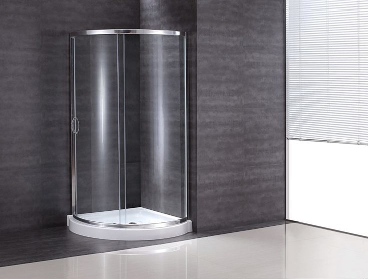 Ove Decors Breeze 38 withoutwalls Premium 38-Inch Shower Kit with Acrylic Base