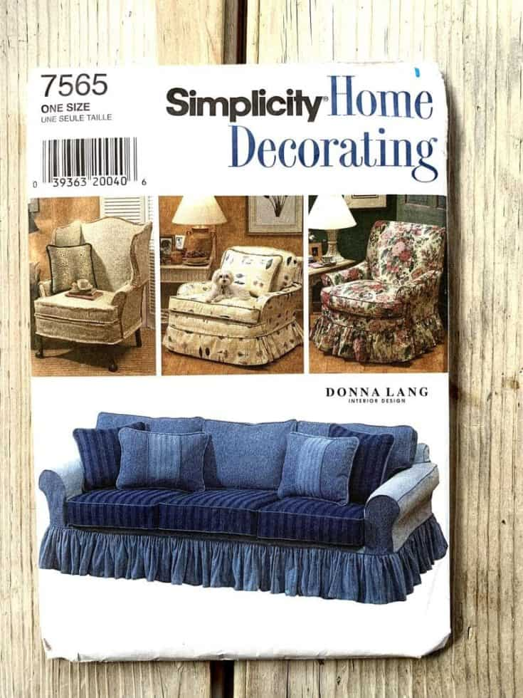 UNCUT Donna Lang Simplicity 7565 home decorating Slipcovers