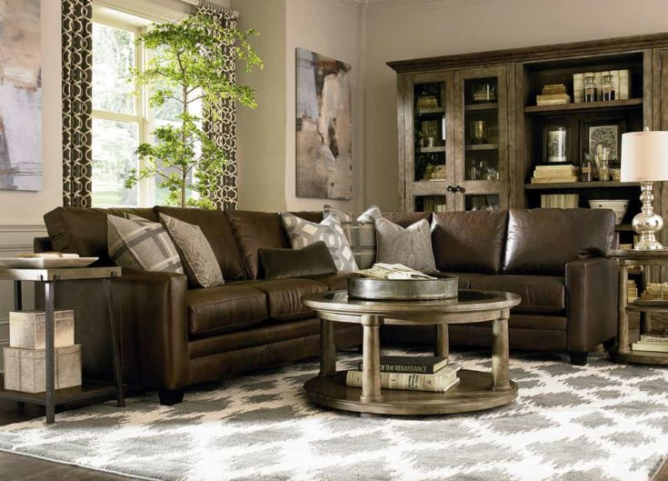 Custom Leather Ladson Sectional