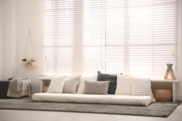 Comfortable place for relax near window at home