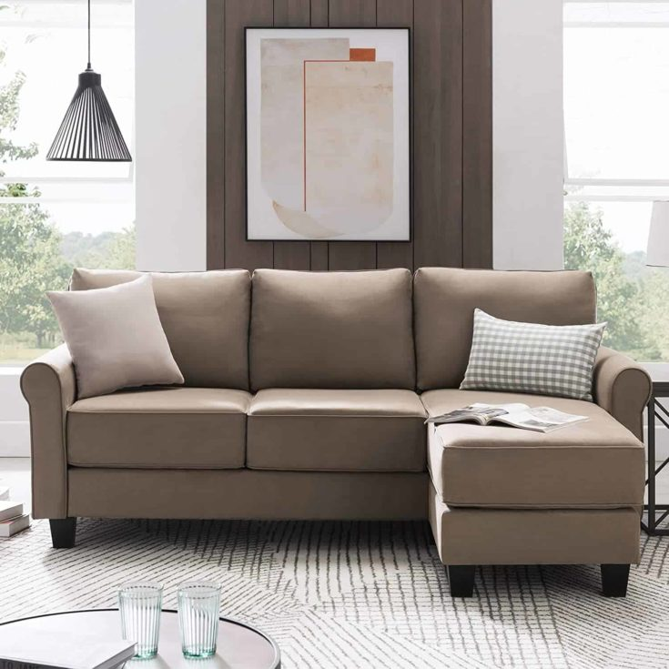 Nolany Reversible Sectional Sofa Couch for Small Apartment L Shape Sofa Couch