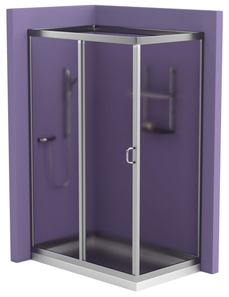 realistic 3d render of shower