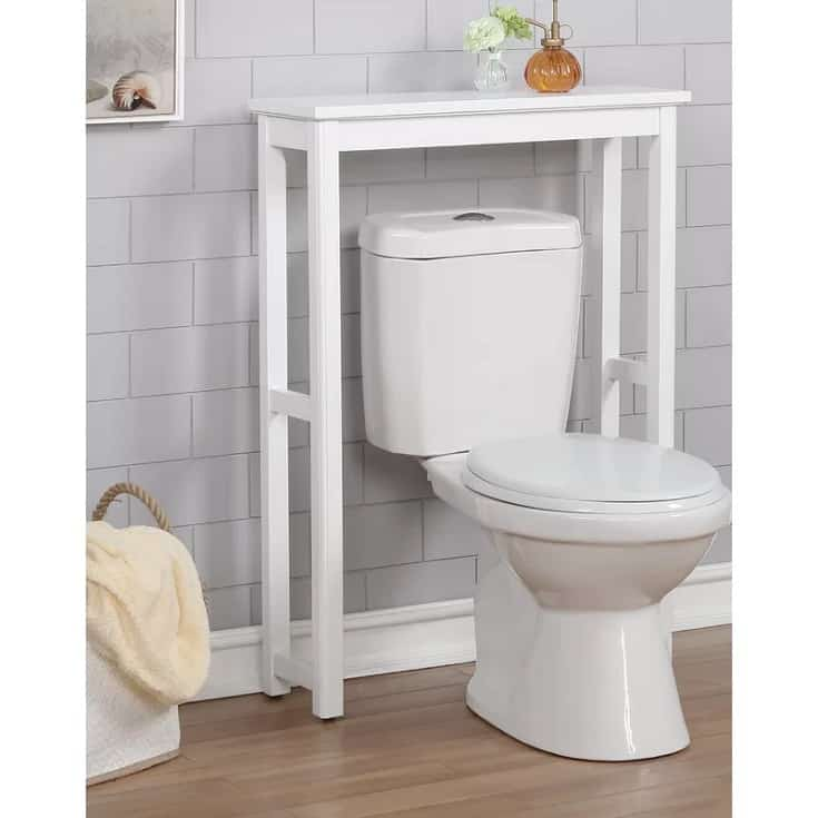"""White Carruthers 27"""" W x 37"""" H x 9"""" D Over-The-Toilet Storage"""