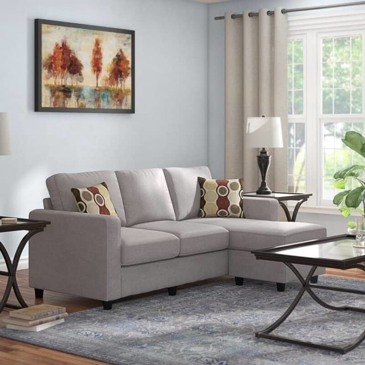 """Sylvette 78.5"""" Wide Reversible Sofa & Chaise with Ottoman"""