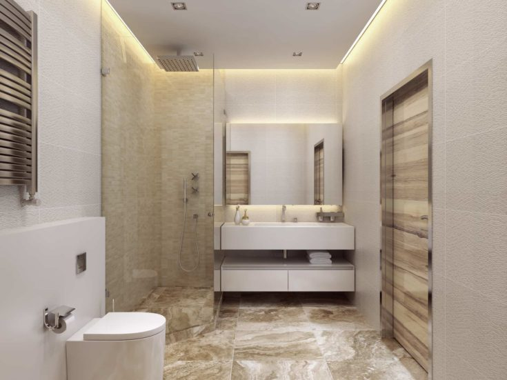 Bathroom contemporary style. 3d visualization