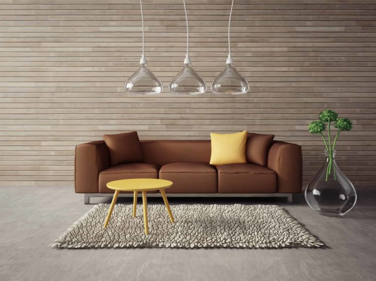 Modern interior with a beautiful furniture