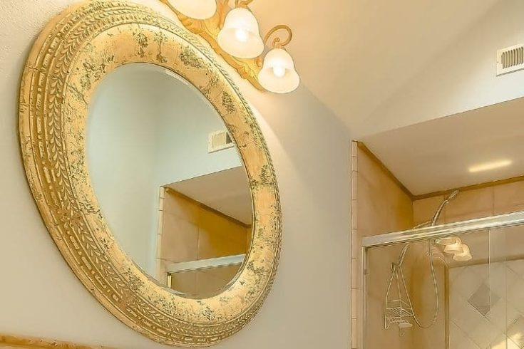 Oblong Carving mirror