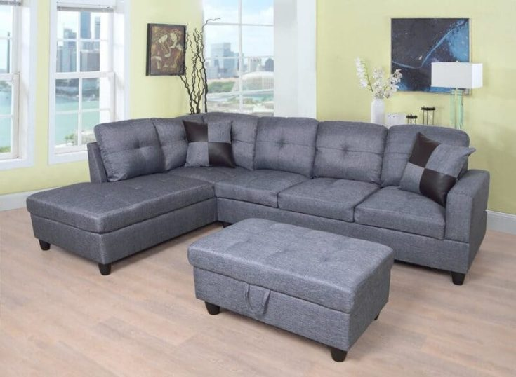 """Russ 103.5"""" Wide Sectional with Ottoman"""