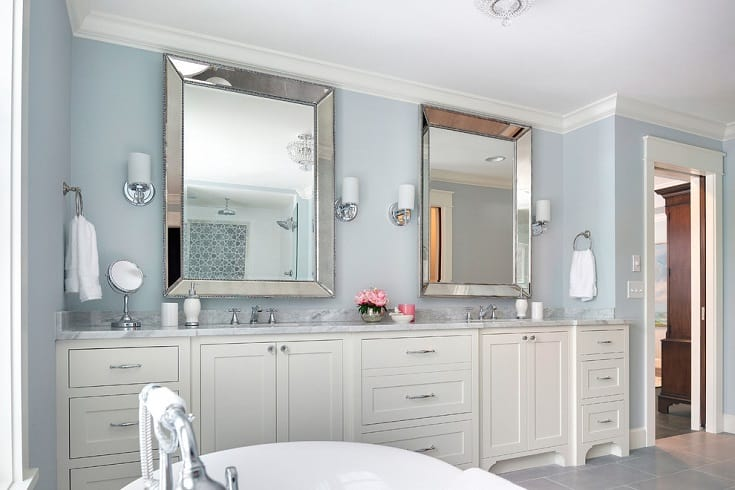 Example of a transitional white tile bathroom design in Minneapolis