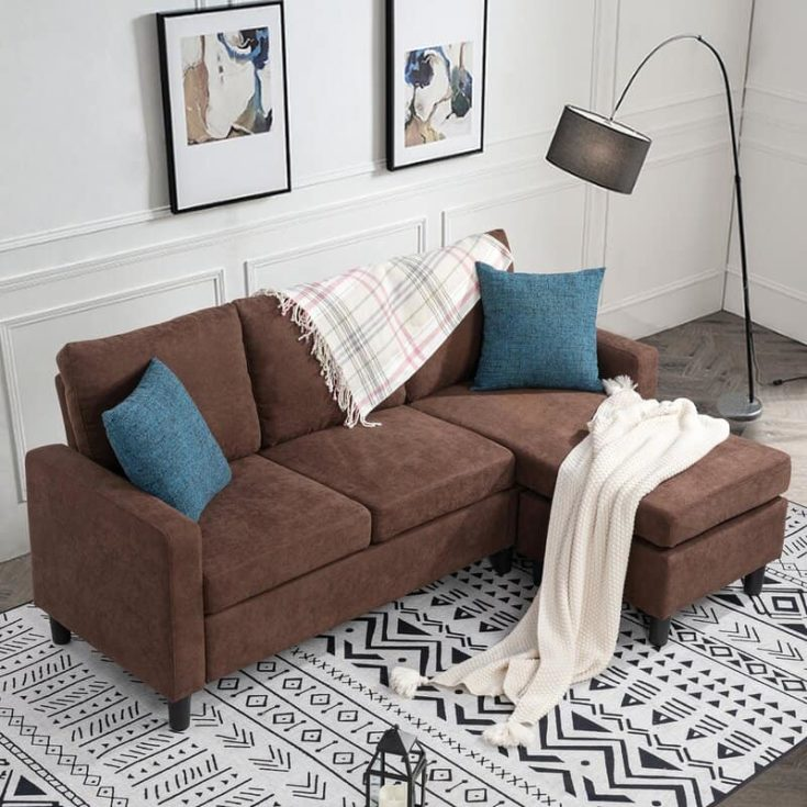 77.55 Wide Square Arm Sofa Chaise
