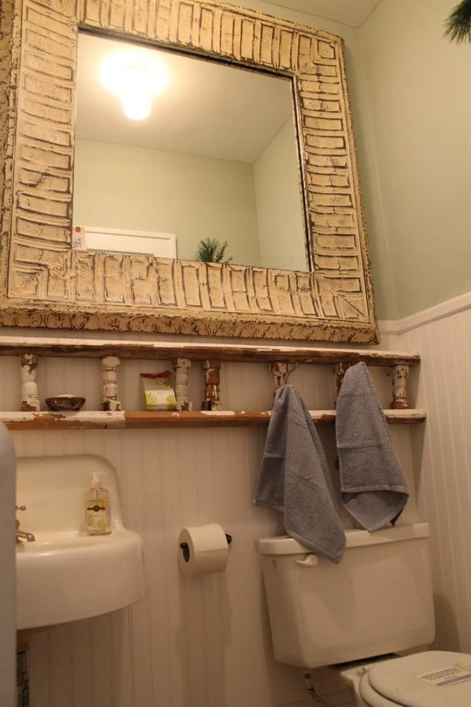 Upcycled Wood Trail toilet