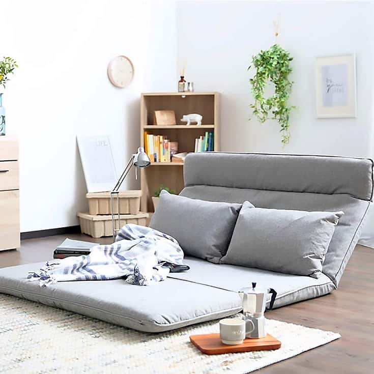 Fabric Floor Couch Lounge with 5 Adjustable Reclining Position