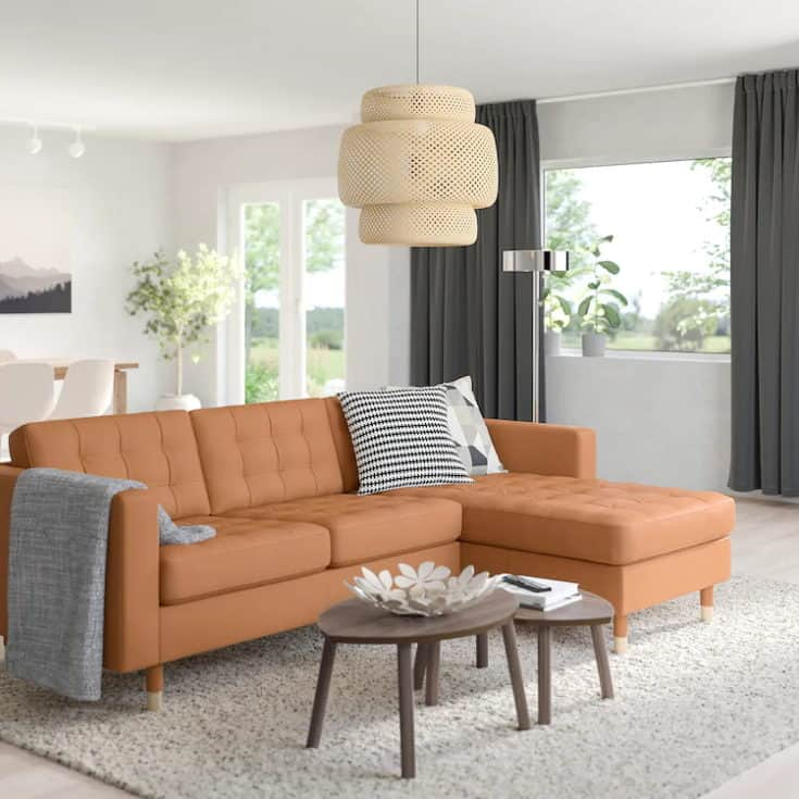 Morabo sofa with chaise.