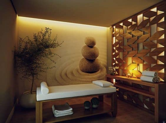Wall Accents and Murals massage room