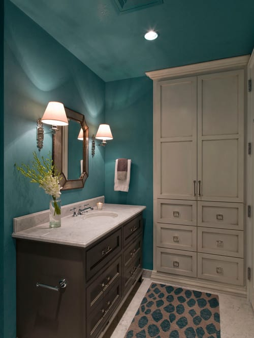 Inspiration for a contemporary powder room remodel in Austin