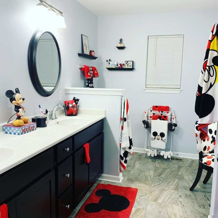 Full stack mickey mouse inspired bathroom