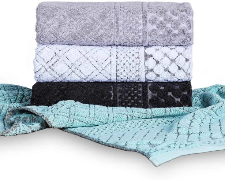 HAOD Large Hand Towels Set 4 Pack