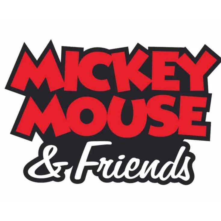Mickey Mouse and Friends Text Cartoon Customized Wall Decal