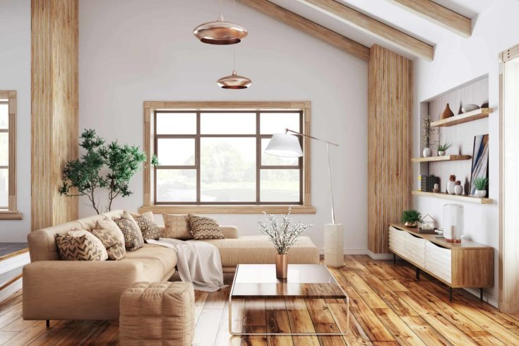 contemporary rustic style living room ideas