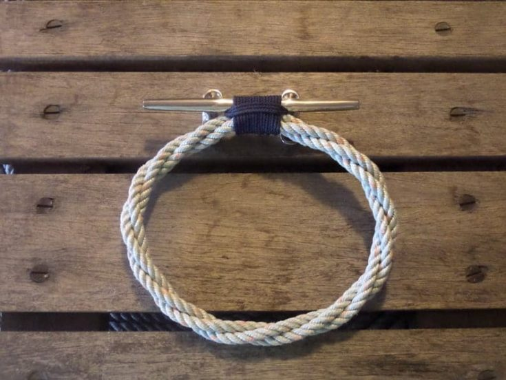 Rope Towel Ring With Stainless Steel